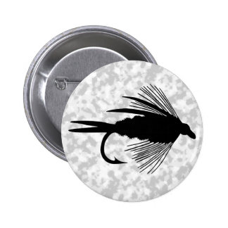 Black fly fishing lure buttons