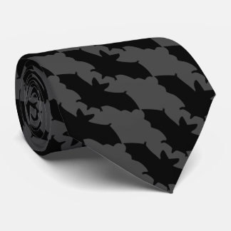 Black Flying Bats Goth Tie