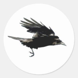 BLACK FLYING CROW Sticker Series