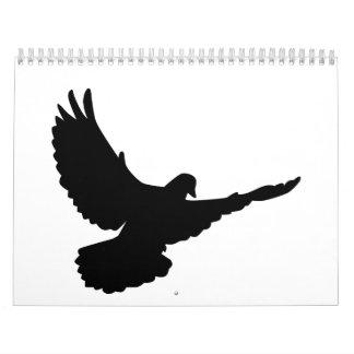 Black flying dove calendar