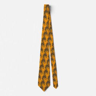 Black Flying Dragons Tahiti Gold Neck Tie