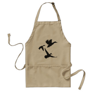 Black Flying Duck Silhouettes Adult Apron