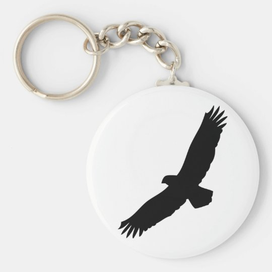 black flying eagle keychain