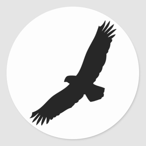 black flying eagle stickers