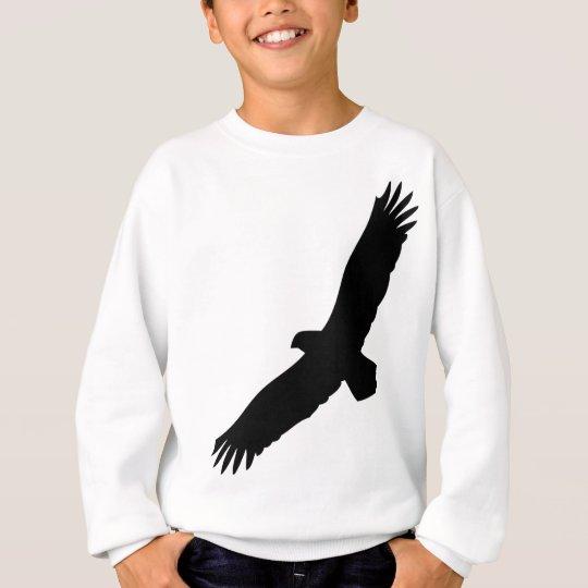 black flying eagle sweatshirt