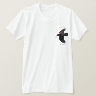 BLACK FLYING RAVEN LOVER Wildlife Shirt