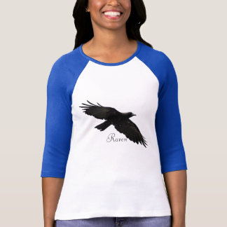 Black Flying Raven Wildlife-lover Shirt