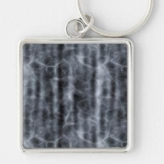 BLACK FOG ~ Silver-Colored SQUARE KEYCHAIN