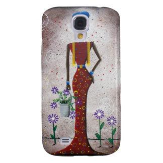 BLACK Folk Art By Lori Everett Galaxy S4 Cases