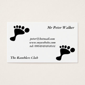 Black Foot Print Business Card