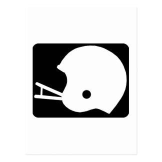 Black Football Helmet Logo Postcard