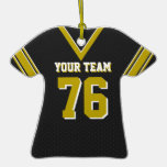 Black Football Jersey with Photo Christmas Ornament