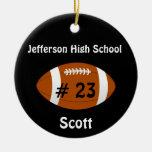 Black Football number Ornament