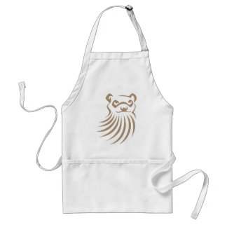 Black Footed Ferret in Swish Drawing Style Aprons