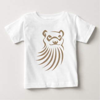 Black Footed Ferret in Swish Drawing Style Baby T-Shirt