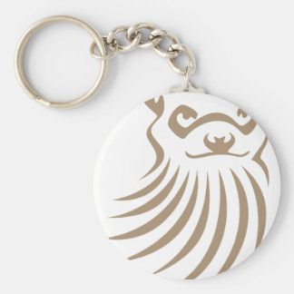 Black Footed Ferret in Swish Drawing Style Keychain
