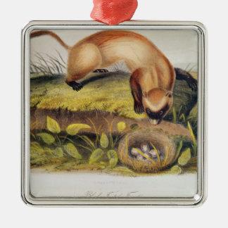 Black-footed Ferret Metal Ornament