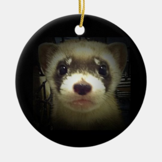 Black Footed Ferret Ornament