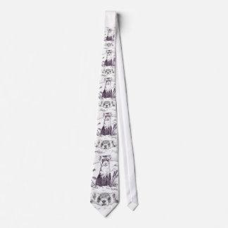 Black Footed Ferret Tie
