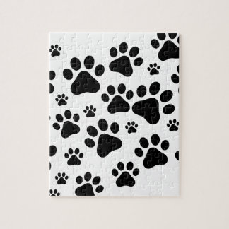 Black Footprint dogs Jigsaw Puzzle