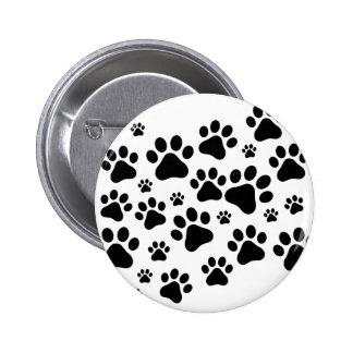 Black Footprint dogs Pinback Button
