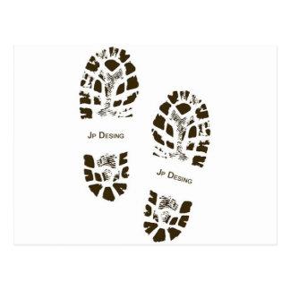 Black footprint postcard
