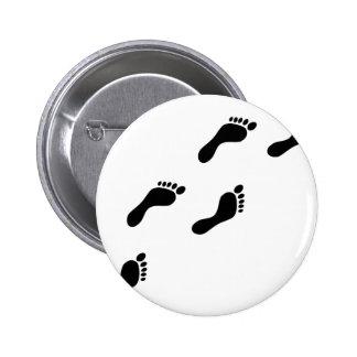 black footprints button