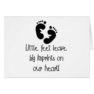 Black Footprints Little Feet Big Imprints Card