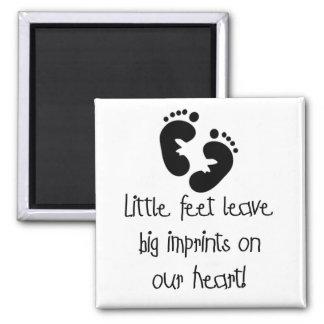 Black Footprints Little Feet Big Imprints Magnet
