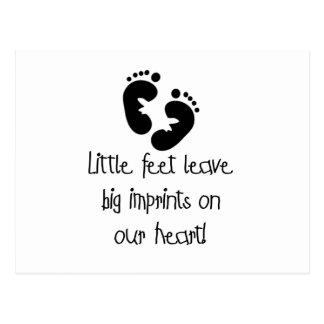 Black Footprints Little Feet Big Imprints Postcard