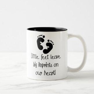 Black Footprints Little Feet Big Imprints Two-Tone Coffee Mug