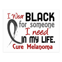 Black For Someone I Need Melanoma Postcard
