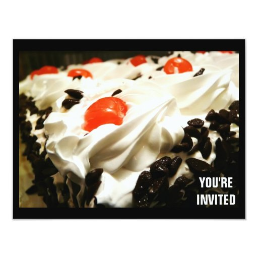 Black Forest Cake Any Occasion Party Invitation