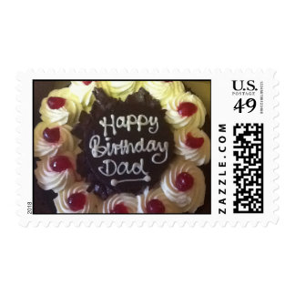 Black Forest Cake Birthday Dad Postage Stamps