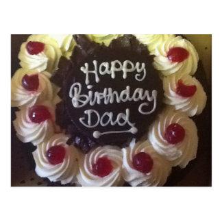 Black Forest Cake Birthday Dad Postcard