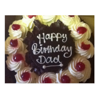 Black Forest Cake Birthday Dad Post Card