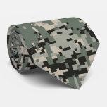 Black Forest Digital Camo Pattern Tie