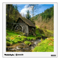 Black Forest Grist Mill Germany Wall Decal