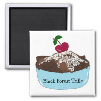Black Forest Trifle 2 Inch Square Magnet