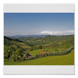Black Forest valley Poster