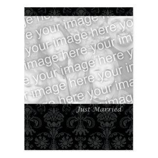 Black Formal Just Married Postcard