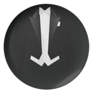 Black Formal  Men's Tuxedo Suit Dinner Plates