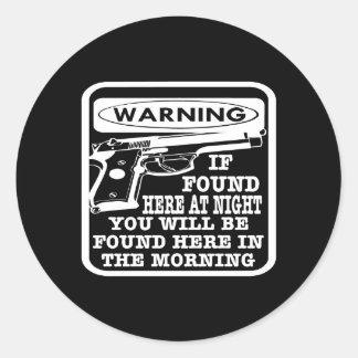 Black Found Night Found Morning Sticker