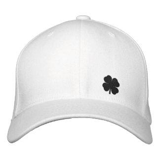 Black  Four Leaf Clover St. Patricks Day Hat