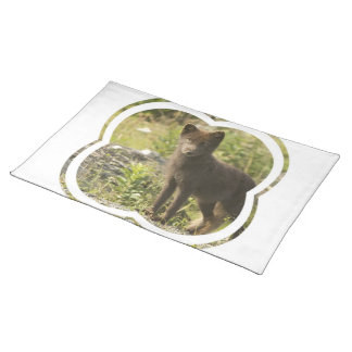 Black Fox Placemat Cloth Placemat