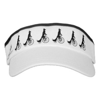 Black Fox Riding Vintage Bike Silhouette Visor