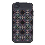 Black Fractal Art Pattern iPhone 4/4S Cover