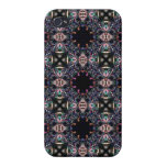 Black Fractal Art Pattern iPhone 4 Case
