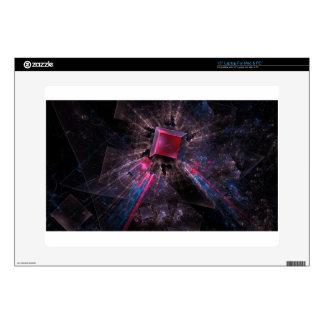 Black fractal laptop decal