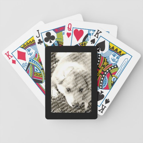 Black Frame Create Your Own Gift Template Bicycle Playing Cards